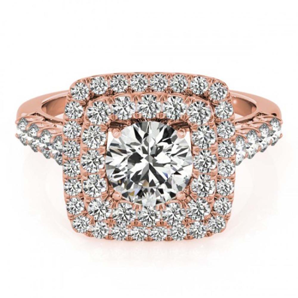 2.05 ctw VS/SI Diamond Halo Ring 18K Rose Gold - REF-335H9M - SKU:27103