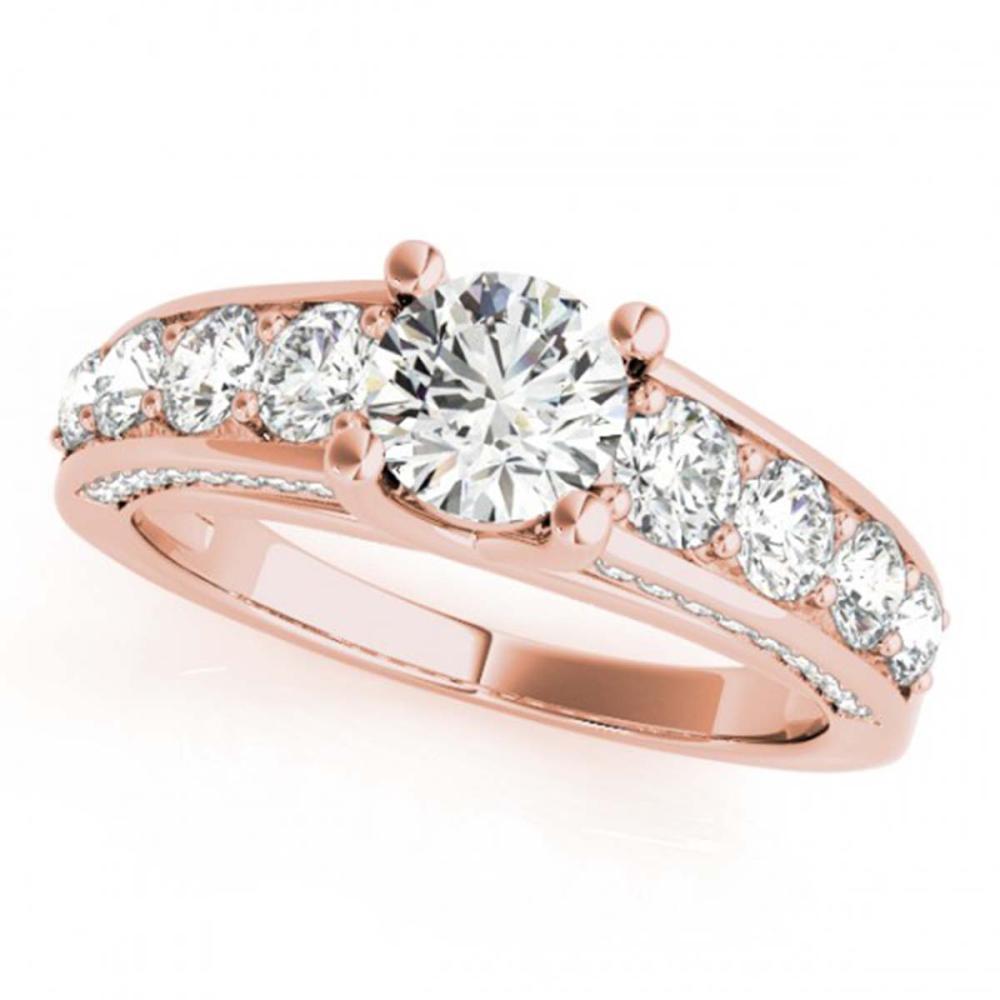 2.55 ctw VS/SI Diamond Ring 18K Rose Gold - REF-358R2K - SKU:28138