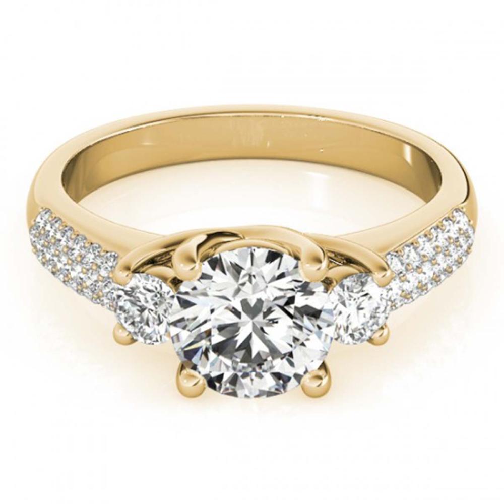 1.25 ctw VS/SI Diamond 3 Stone Ring 18K Yellow Gold - REF-168H8M - SKU:28022
