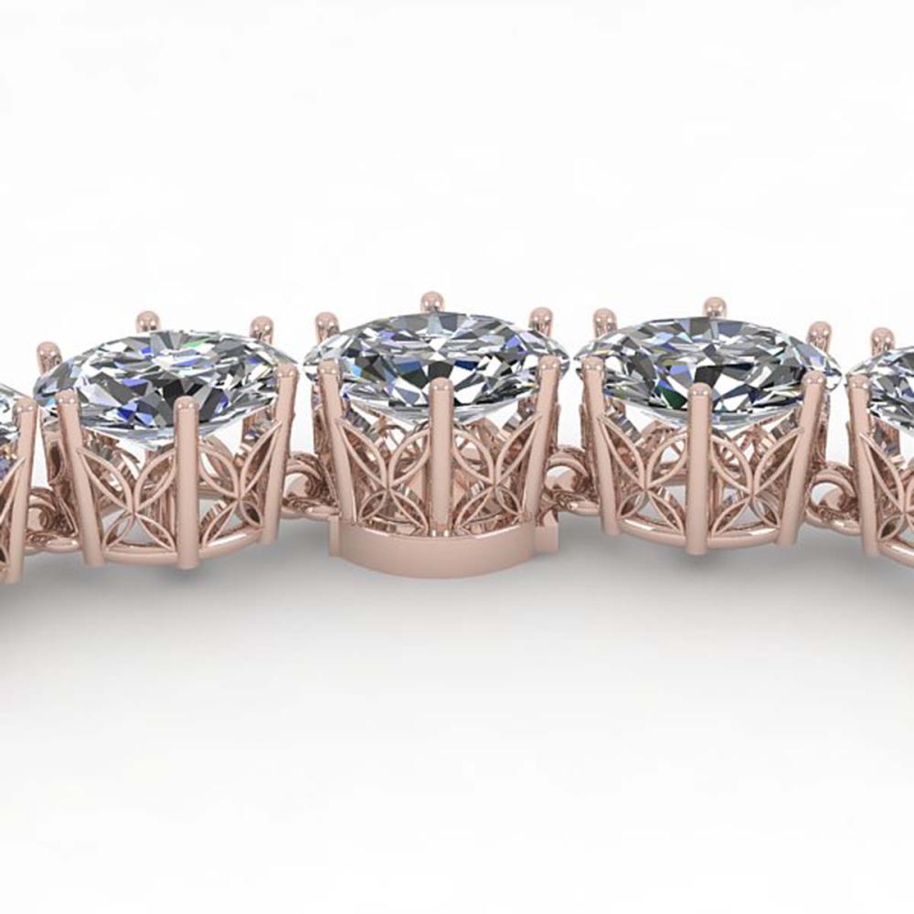 30 ctw Oval SI Diamond Necklace 14K Rose Gold - REF-4830X2R - SKU:29741