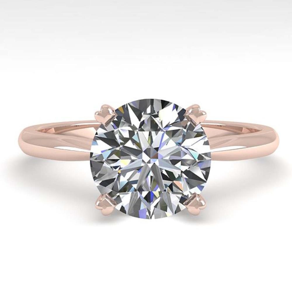 2.03 ctw VS/SI Diamond Engagement Ring 14K Rose Gold - REF-1012H5M - SKU:30609