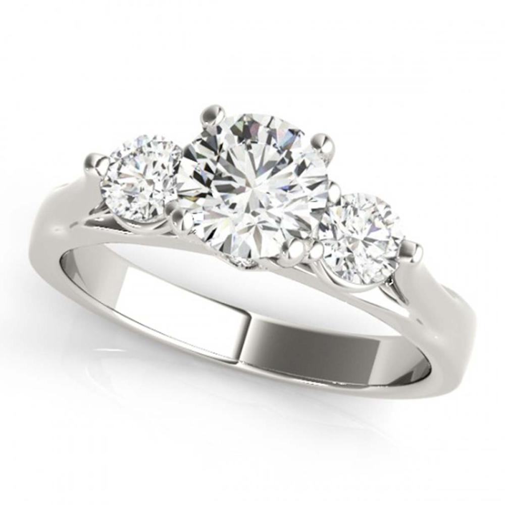 1.50 ctw VS/SI Diamond 3 Stone Ring 18K White Gold - REF-313Y3X - SKU:28002