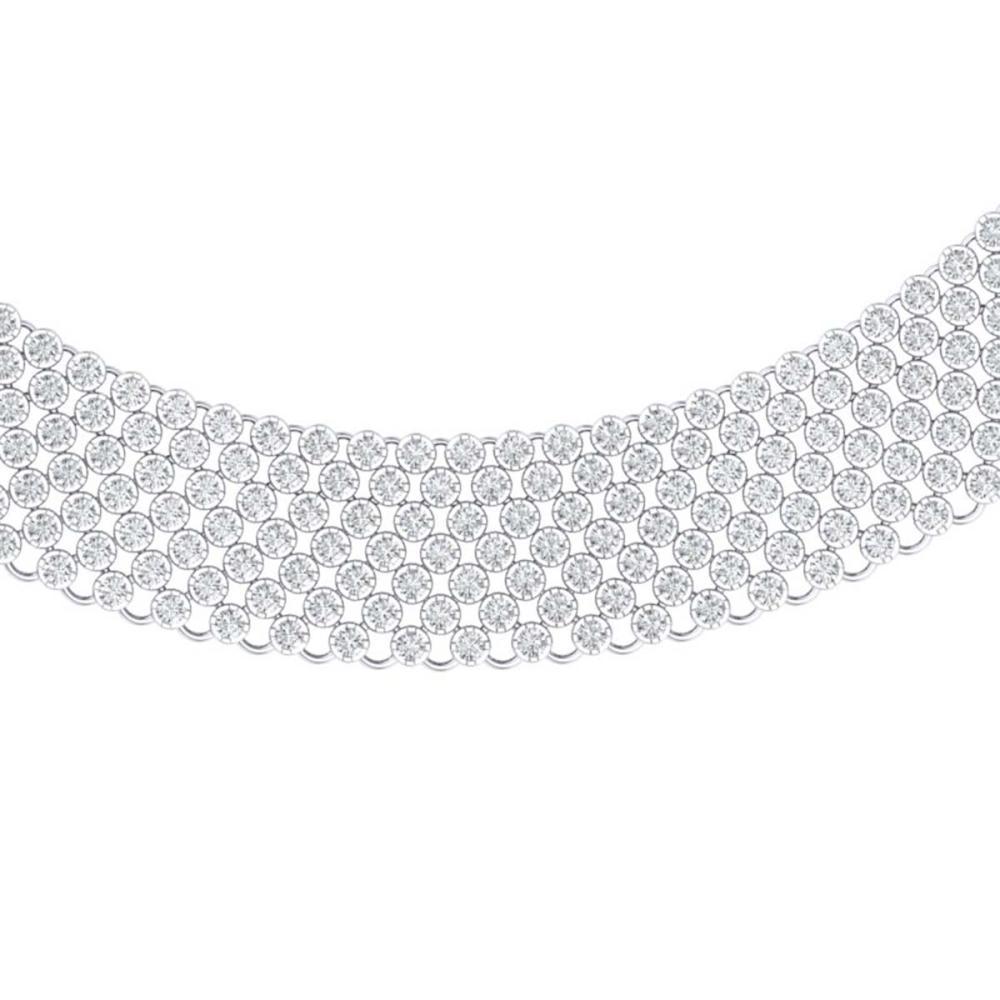 35 ctw VS/SI Diamond Necklace 18K White Gold - REF-2535K2W - SKU:39974