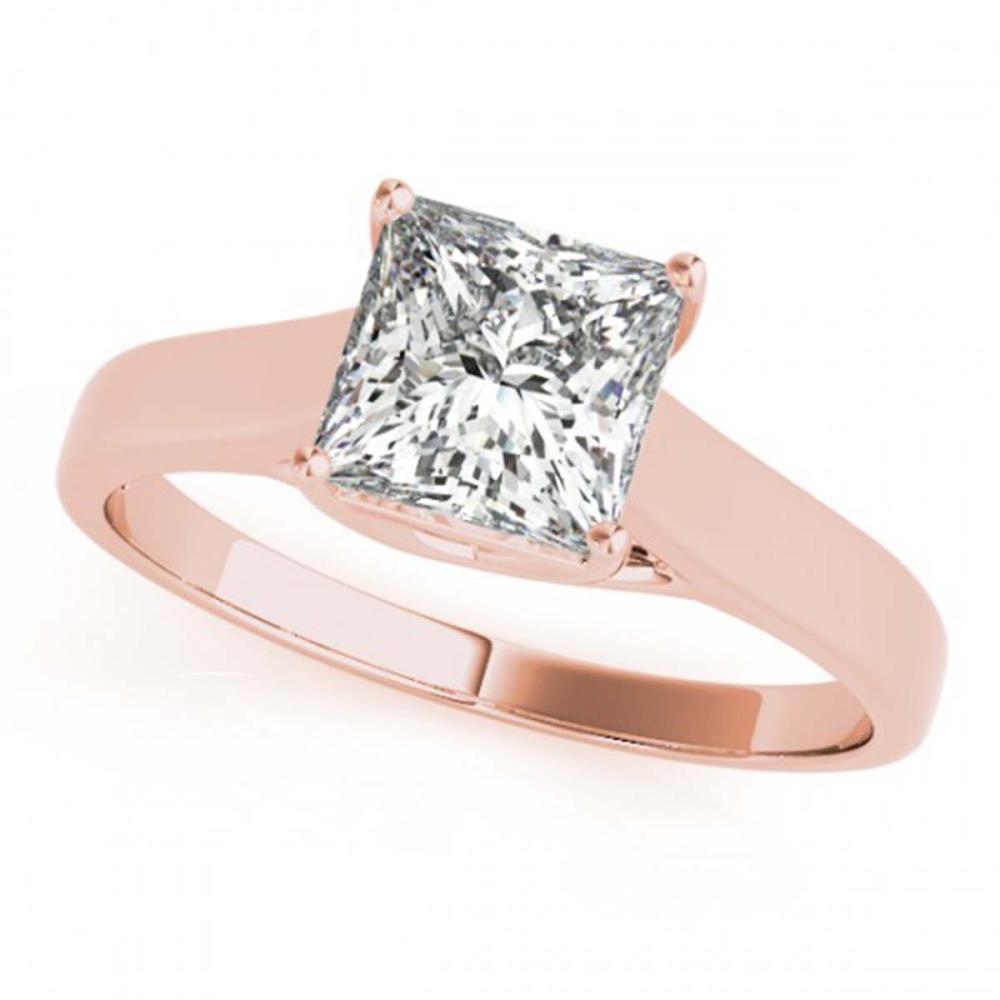 0.75 ctw VS/SI Princess Diamond Ring 18K Rose Gold - REF-155F9N - SKU:28144