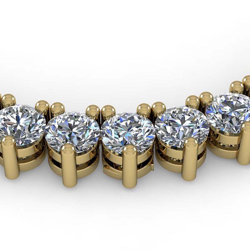 57 ctw 3 Prong SI Diamond Necklace 18K Yellow Gold - REF-15927K3W - SKU:36142
