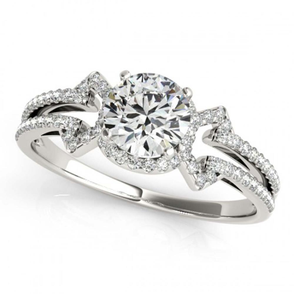 0.90 ctw VS/SI Diamond Ring 18K White Gold - REF-114N5A - SKU:27966