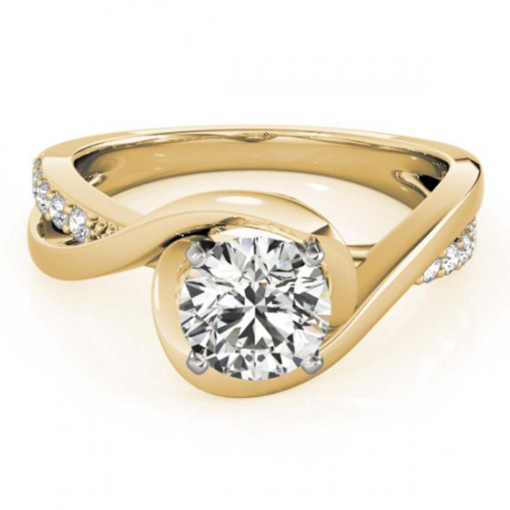 0.90 ctw VS/SI Diamond Ring 18K Yellow Gold - REF-155M3F - SKU:27455