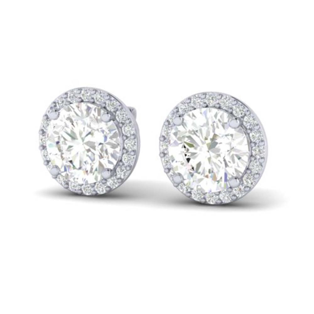 3.50 ctw VS/SI Diamond Earrings 18K White Gold - REF-942V5Y - SKU:21489