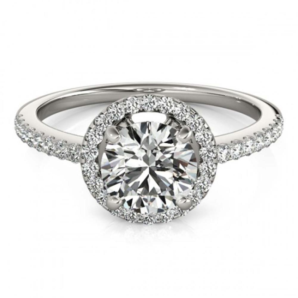 1.15 ctw VS/SI Diamond Halo Ring 18K White Gold - REF-154A5V - SKU:26814