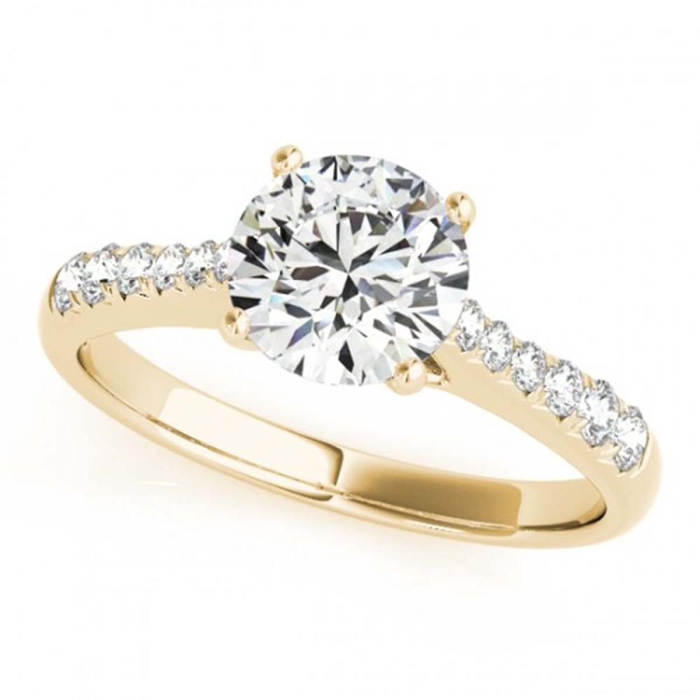 1 ctw VS/SI Diamond Ring 18K Yellow Gold - REF-141F8N - SKU:27431