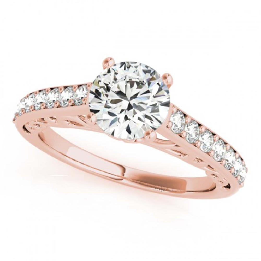 1.40 ctw VS/SI Diamond Ring 18K Rose Gold - REF-313N6A - SKU:27649