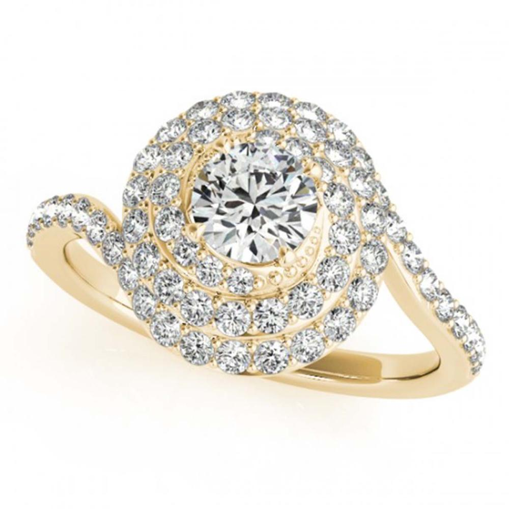 1.54 ctw VS/SI Diamond Halo Ring 18K Yellow Gold - REF-171N5A - SKU:27050