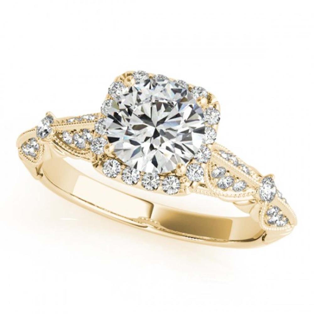 1.36 ctw VS/SI Diamond Halo Ring 18K Yellow Gold - REF-291W3H - SKU:26529