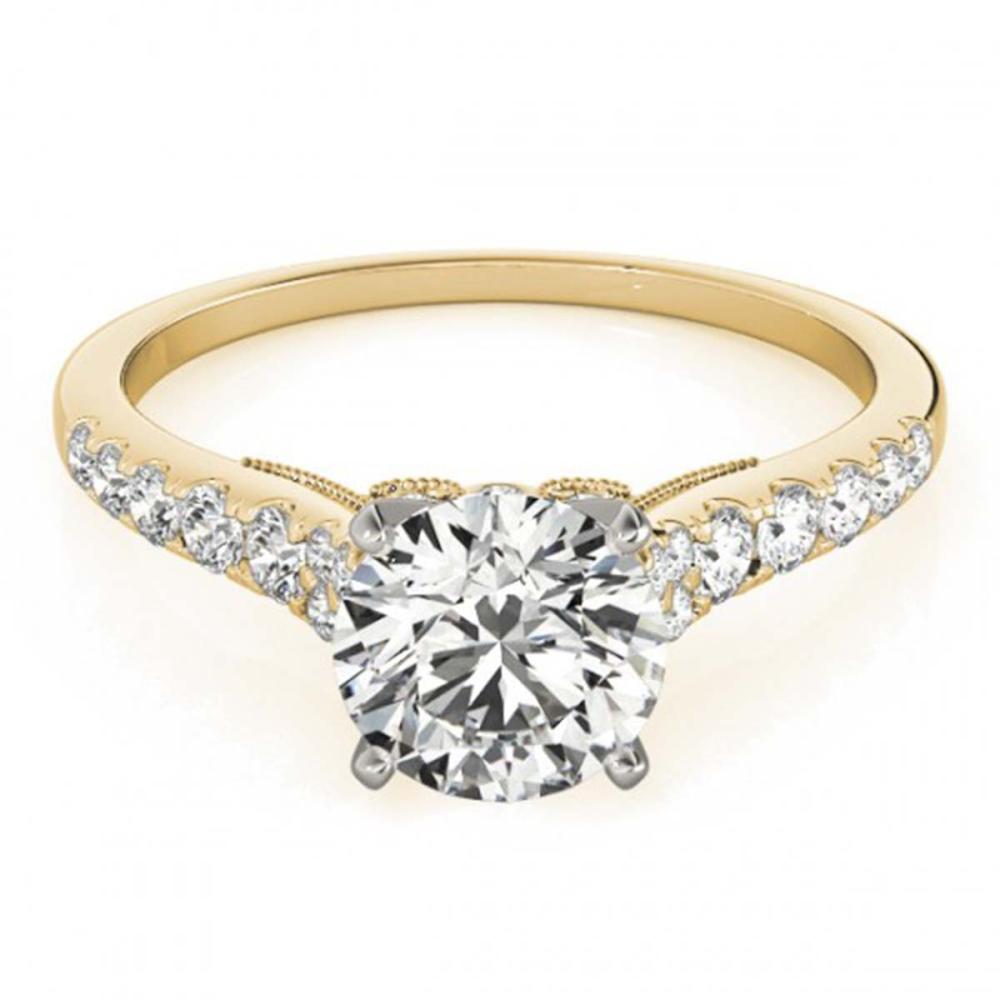 0.92 ctw VS/SI Diamond Ring 18K Yellow Gold - REF-94H6M - SKU:27497