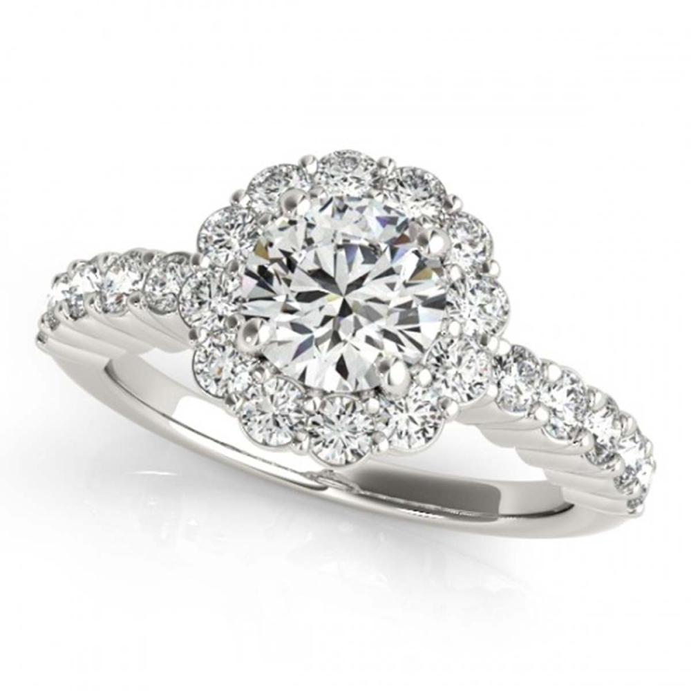 1.75 ctw VS/SI Diamond Halo Ring 18K White Gold - REF-306K3W - SKU:26844
