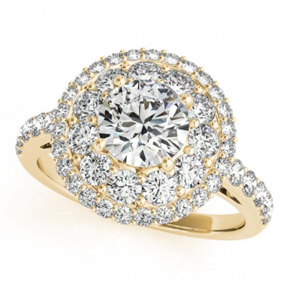 1.50 ctw VS/SI Diamond Halo Ring 18K Yellow Gold - REF-135X2R - SKU:26493