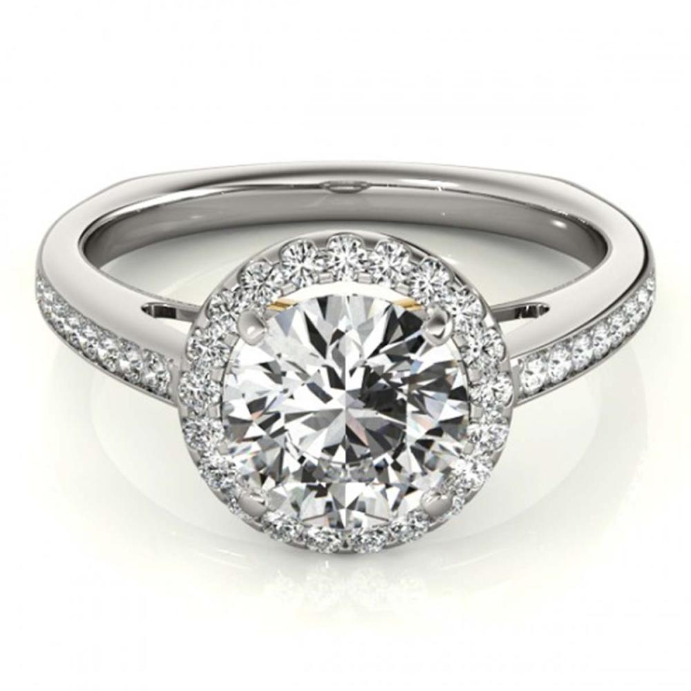 1.30 ctw VS/SI Diamond Solitaire Halo Ring 18K White & Yellow Gold - REF-288Y3X - SKU:26966
