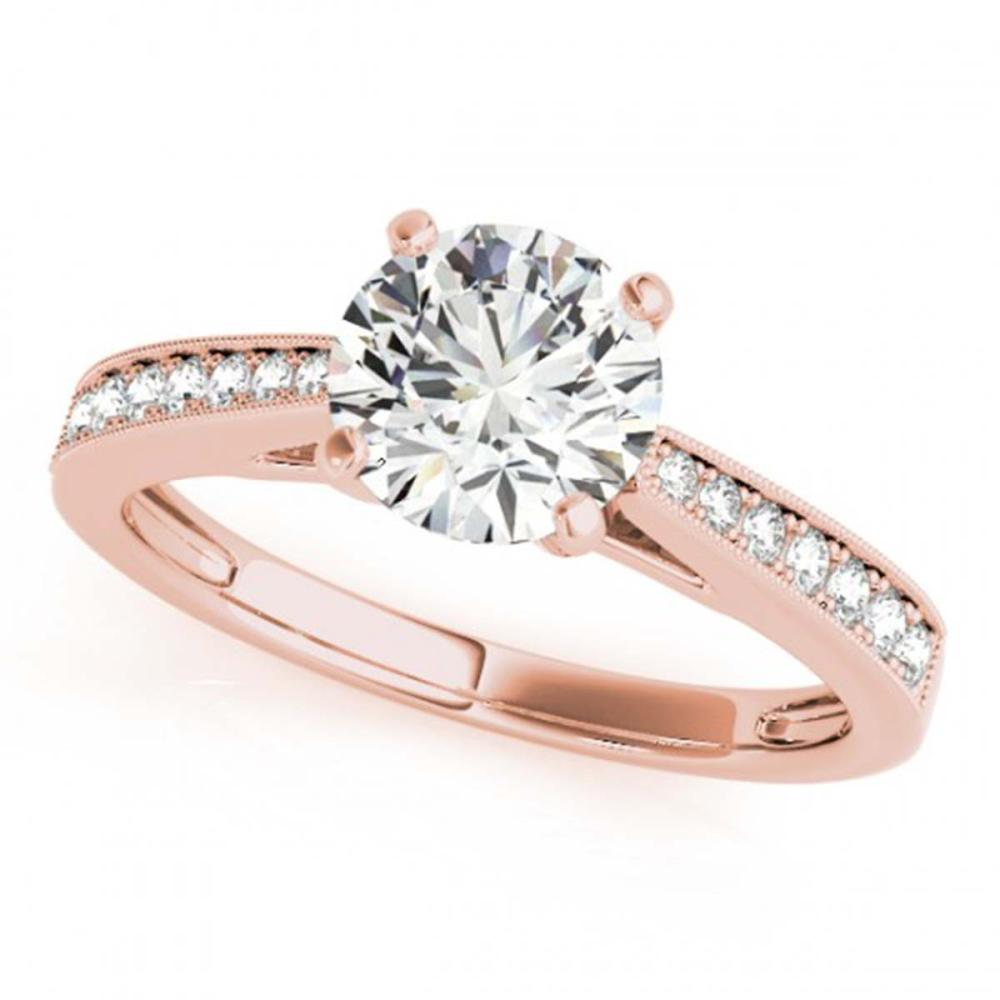 0.70 ctw VS/SI Diamond Ring 18K Rose Gold - REF-94X3R - SKU:27625