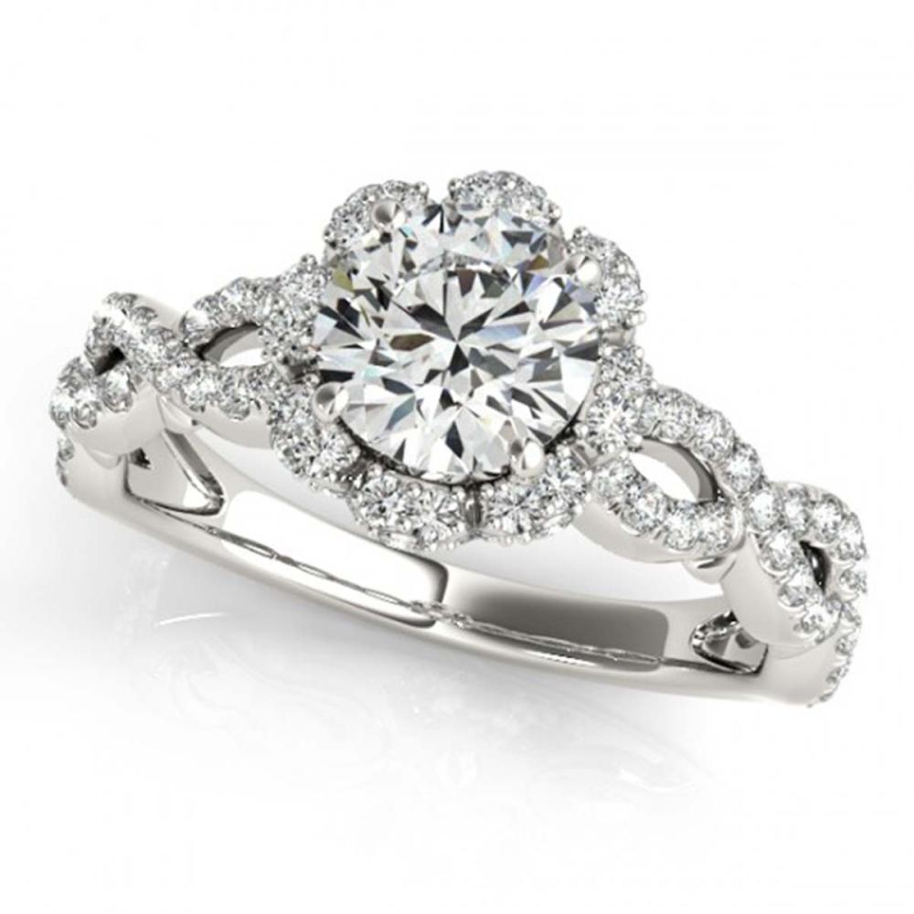 1.69 ctw VS/SI Diamond Halo Ring 18K White Gold - REF-308A5V - SKU:26820