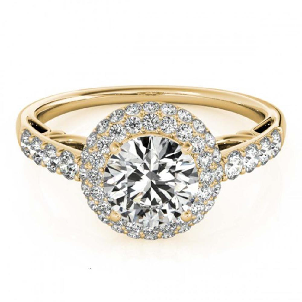 1.65 ctw VS/SI Diamond Halo Ring 18K Yellow Gold - REF-308W9H - SKU:26499