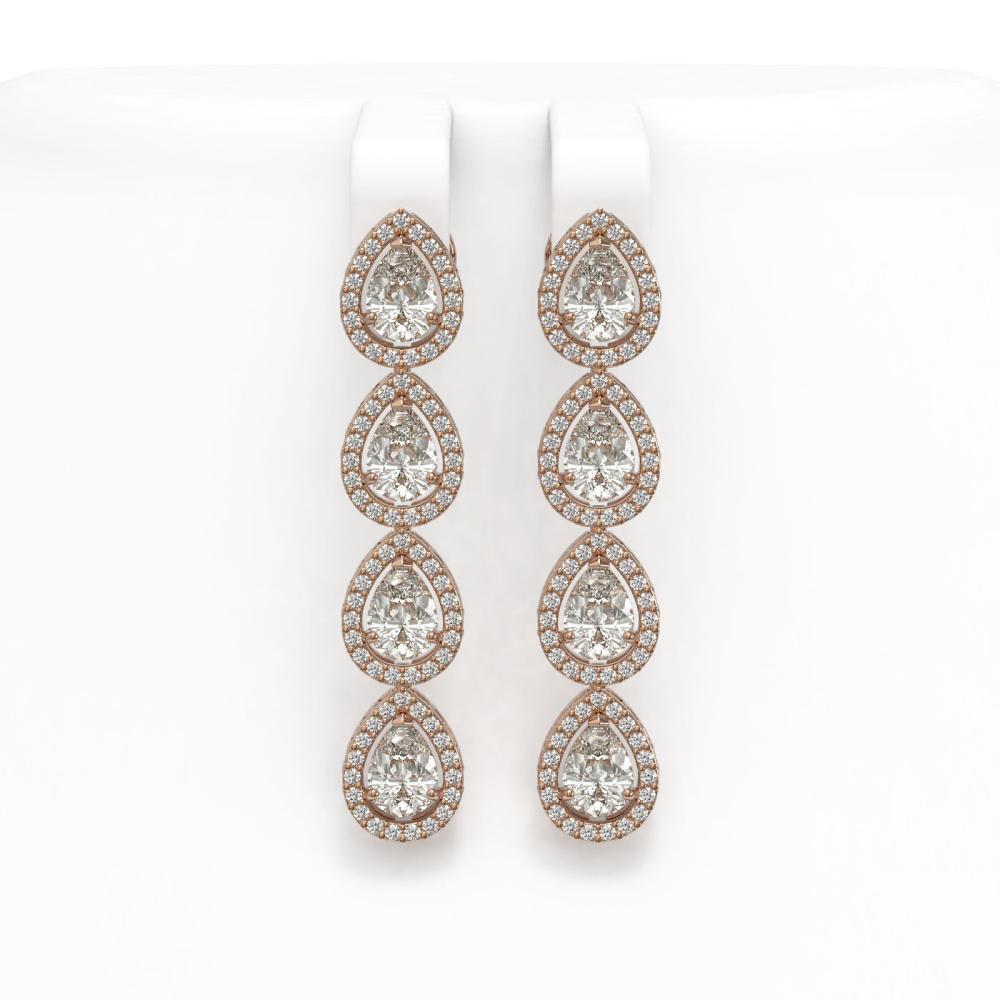6.01 ctw Pear Diamond Earrings 18K Rose Gold - REF-845A7V - SKU:42738