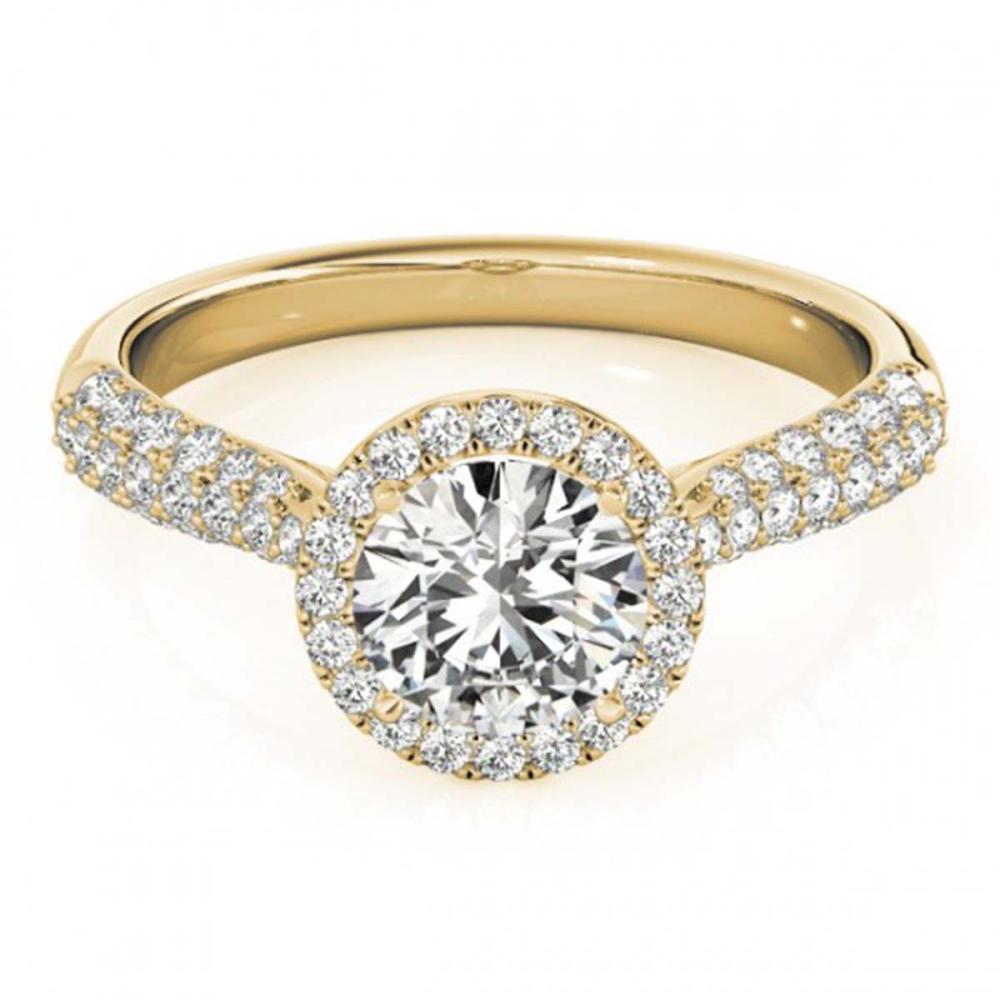 1.40 ctw VS/SI Diamond Halo Ring 18K Yellow Gold - REF-285V2Y - SKU:26187