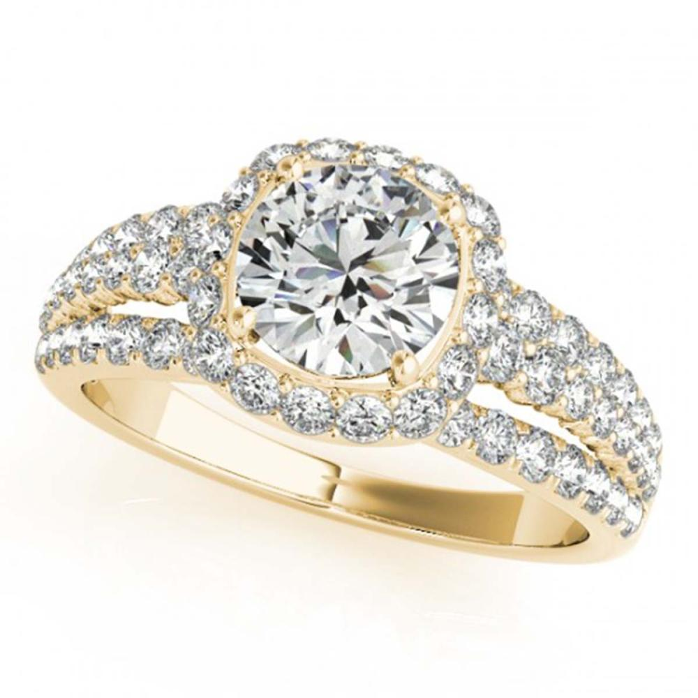 2.25 ctw VS/SI Diamond Halo Ring 18K Yellow Gold - REF-412X5R - SKU:26753