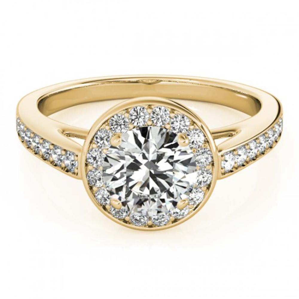 1.16 ctw VS/SI Diamond Halo Ring 18K Yellow Gold - REF-149M6F - SKU:26565