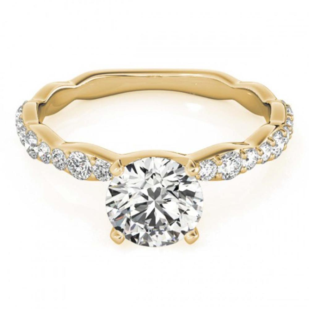 1.40 ctw VS/SI Diamond Ring 18K Yellow Gold - REF-271F3N - SKU:27479