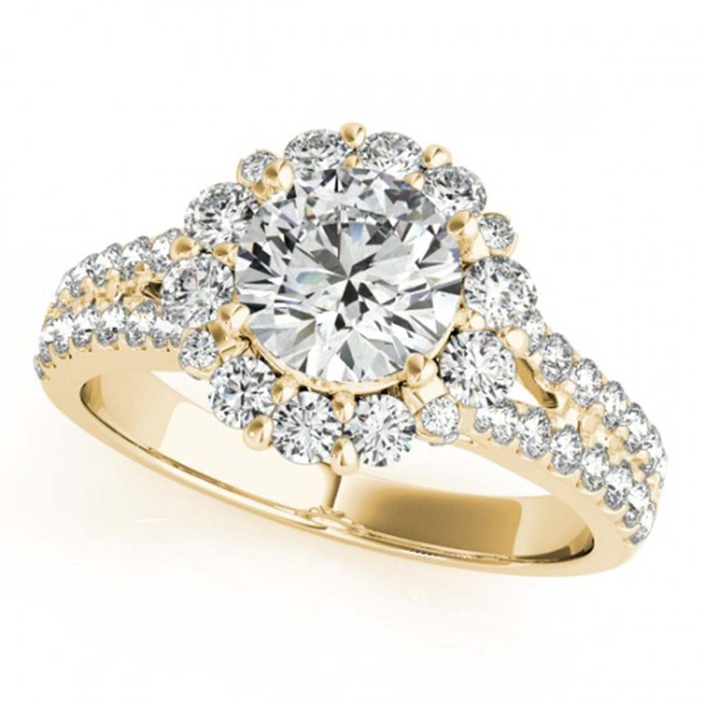 2.51 ctw VS/SI Diamond Halo Ring 18K Yellow Gold - REF-534N5A - SKU:26705