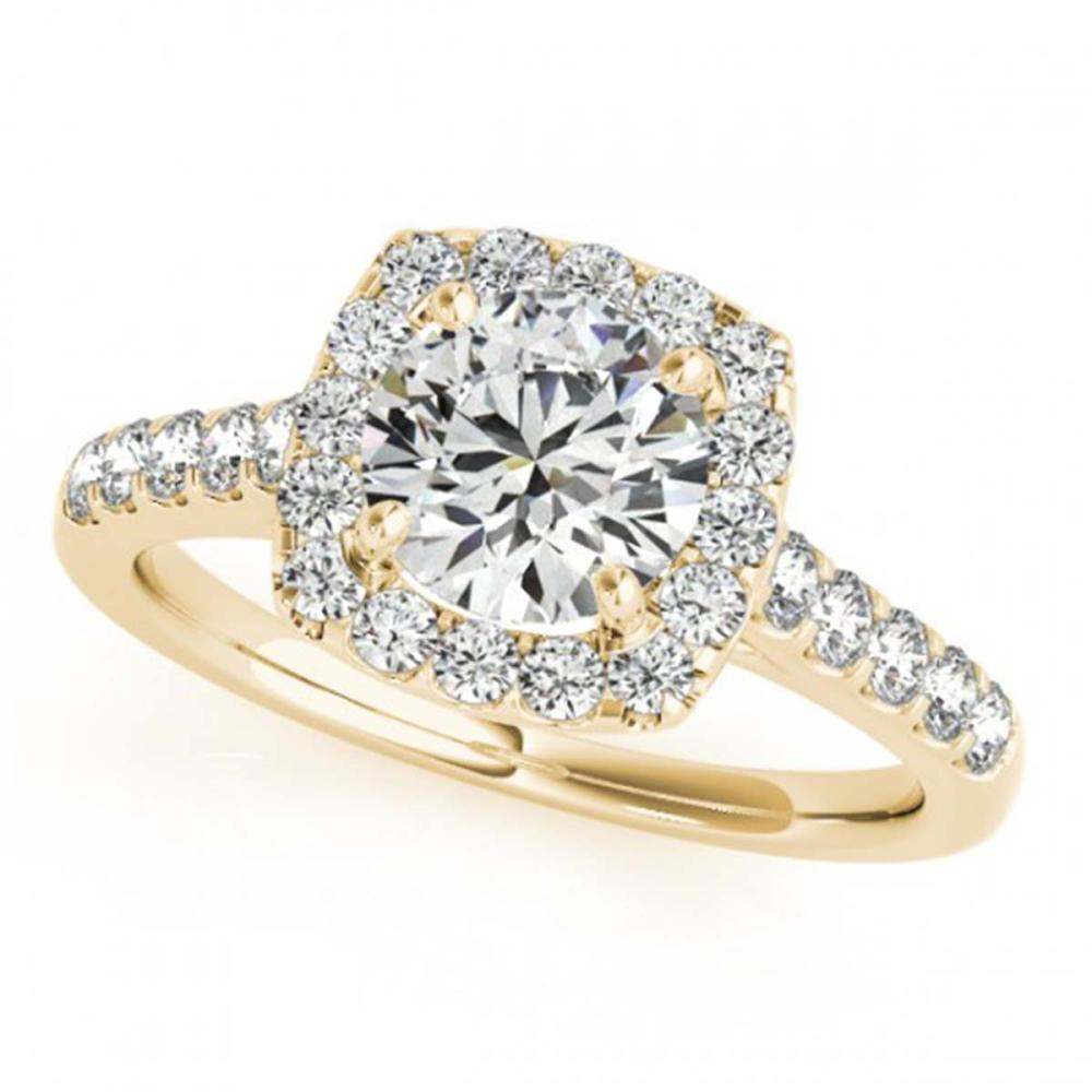 1.70 ctw VS/SI Diamond Halo Ring 18K Yellow Gold - REF-299M3F - SKU:26265