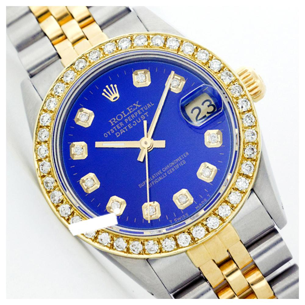 Rolex Men's Two Tone 14K Gold/SS, QuickSet, Diamond Dial & Diamond Bezel - REF-557W7H