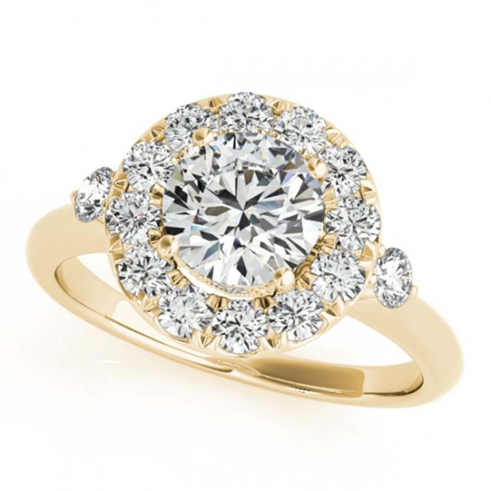 1.50 ctw VS/SI Diamond Halo Ring 18K Yellow Gold - REF-303R3K - SKU:26313