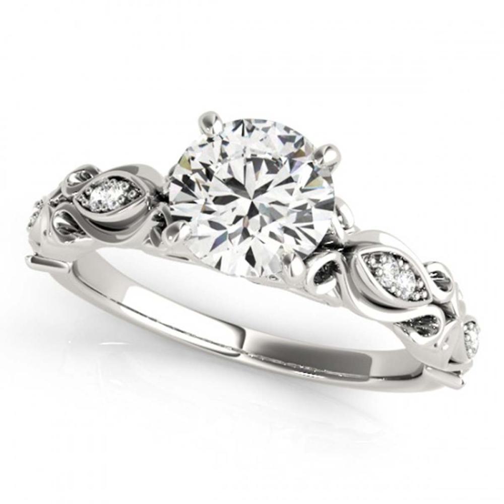 0.85 ctw VS/SI Diamond Ring 18K White Gold - REF-147V5Y - SKU:27270