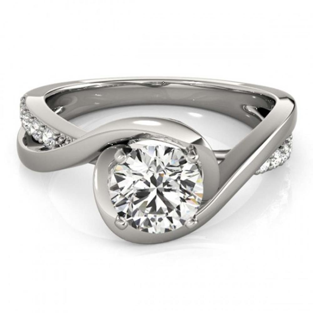 0.65 ctw VS/SI Diamond Ring 18K White Gold - REF-99A8V - SKU:27450