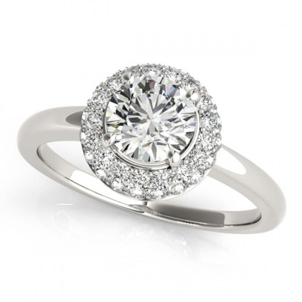 1 ctw VS/SI Diamond Halo Ring 18K White Gold - REF-139W2H - SKU:26476