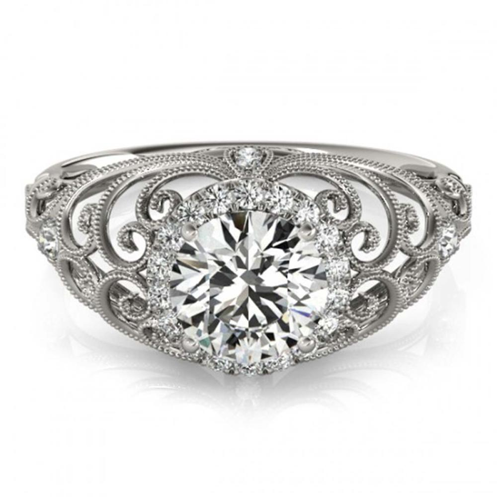 1.22 ctw VS/SI Diamond Halo Ring 18K White Gold - REF-290V6Y - SKU:26554