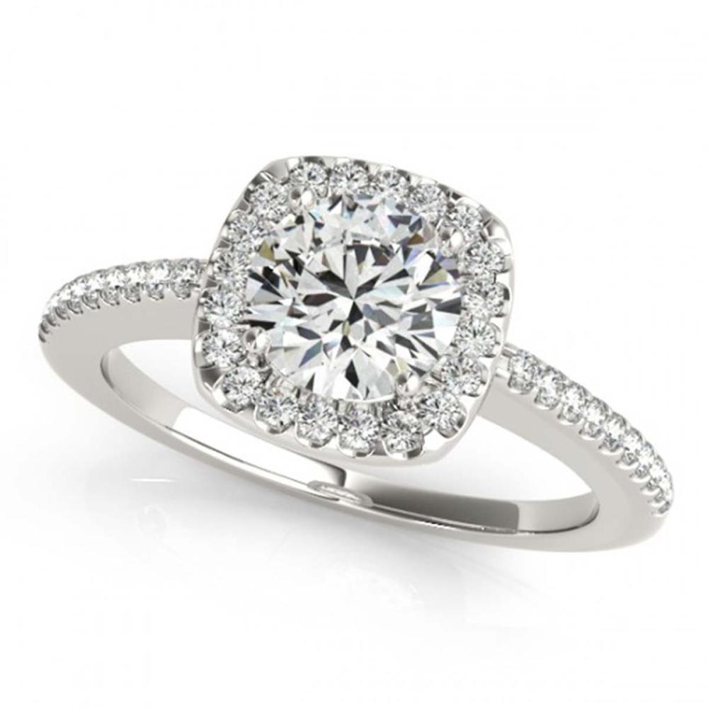 1.25 ctw VS/SI Diamond Halo Ring 18K White Gold - REF-265M9F - SKU:26602