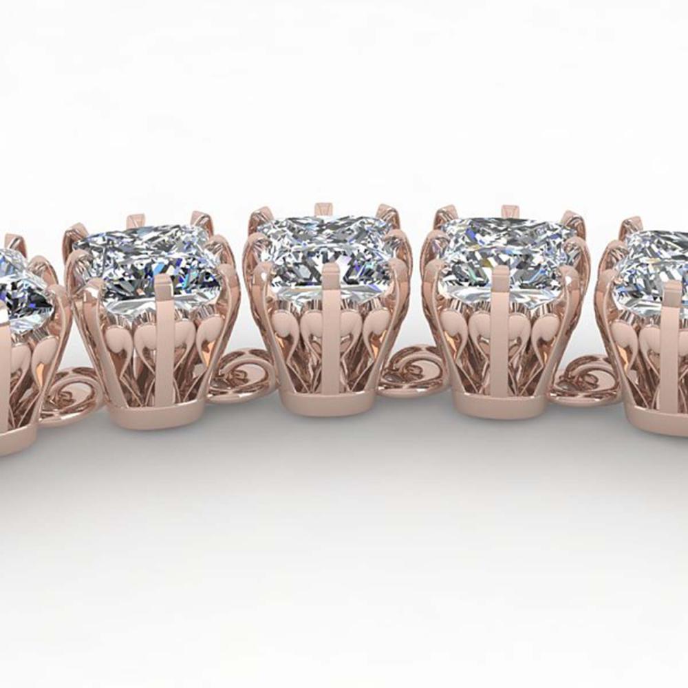 34 ctw Cushion SI Diamond Necklace 14K Rose Gold - REF-5415H2M - SKU:29639