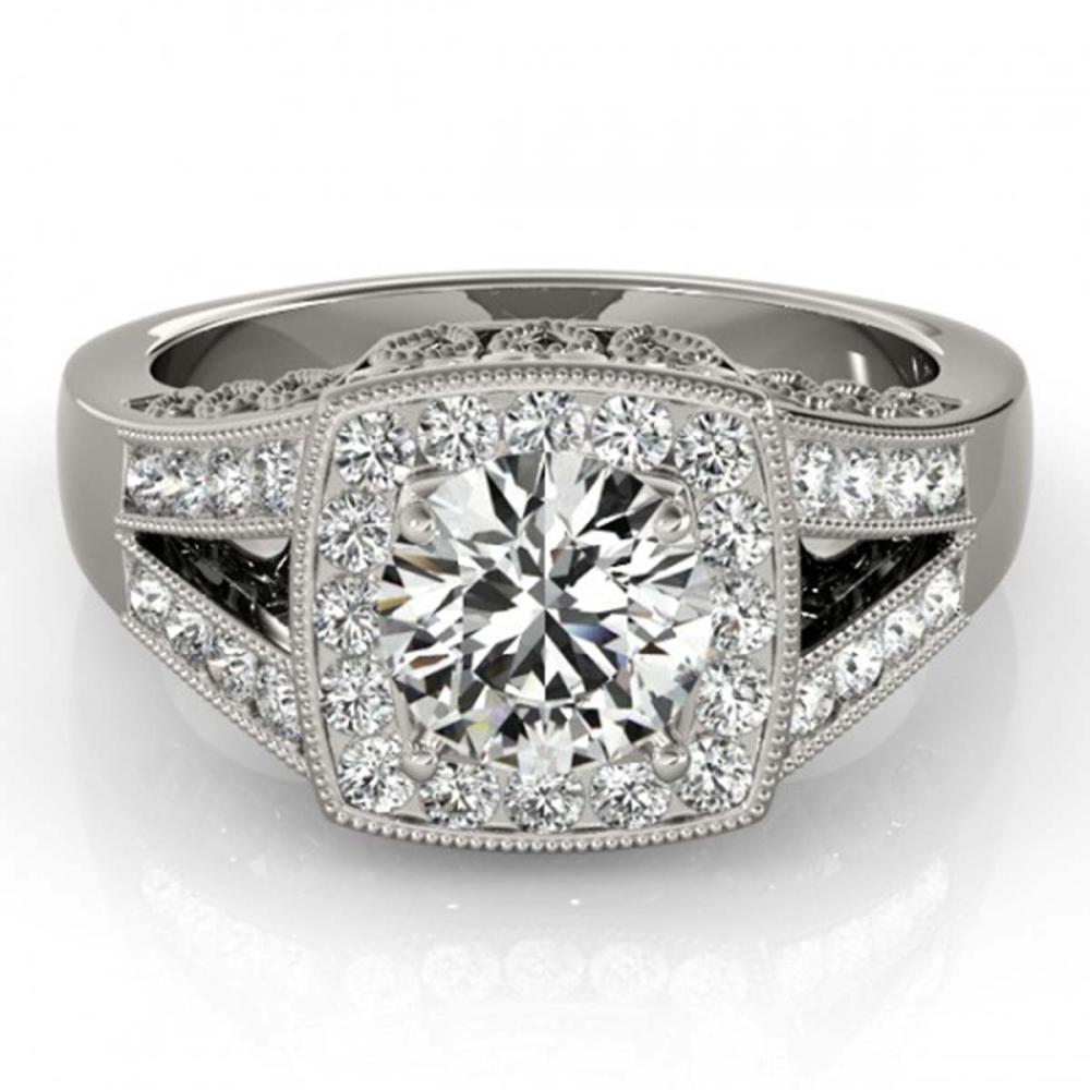 1.65 ctw VS/SI Diamond Halo Ring 18K White Gold - REF-456F7N - SKU:27027