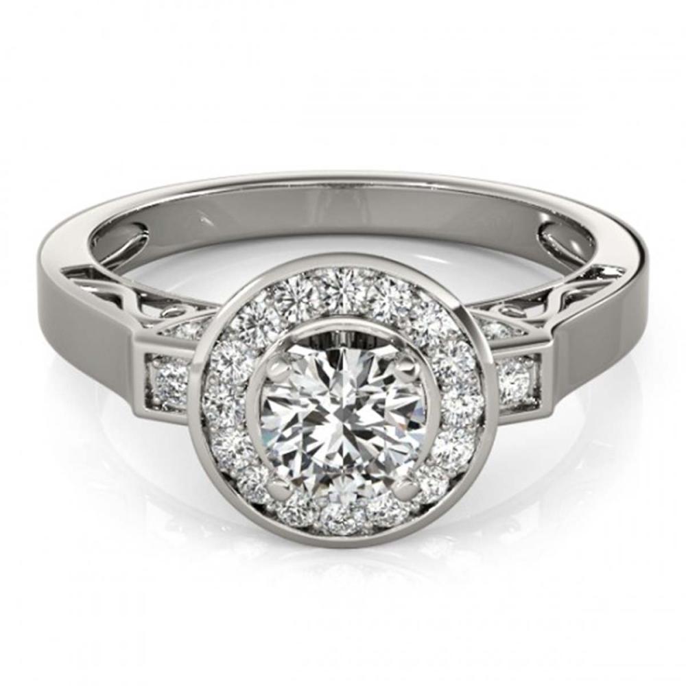 1.25 ctw VS/SI Diamond Halo Ring 18K White Gold - REF-165N2A - SKU:27081