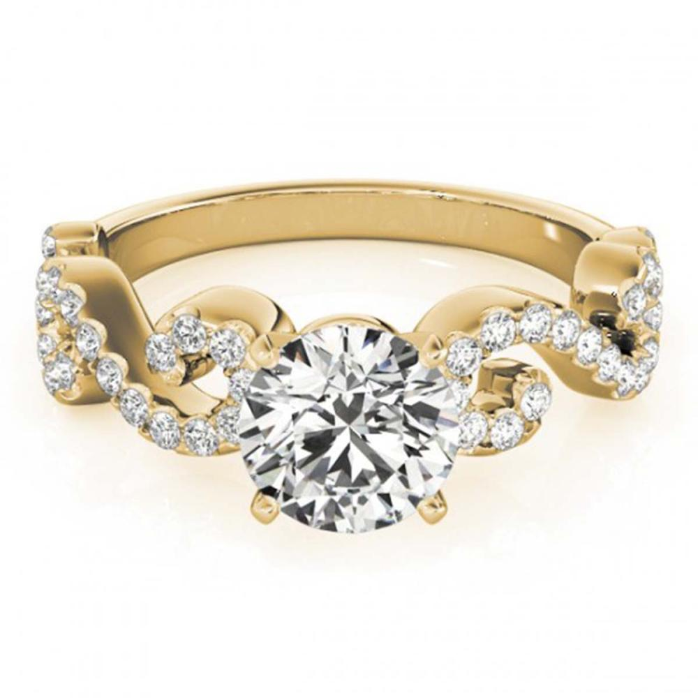 0.90 ctw VS/SI Diamond Ring 18K Yellow Gold - REF-100H9M - SKU:27854
