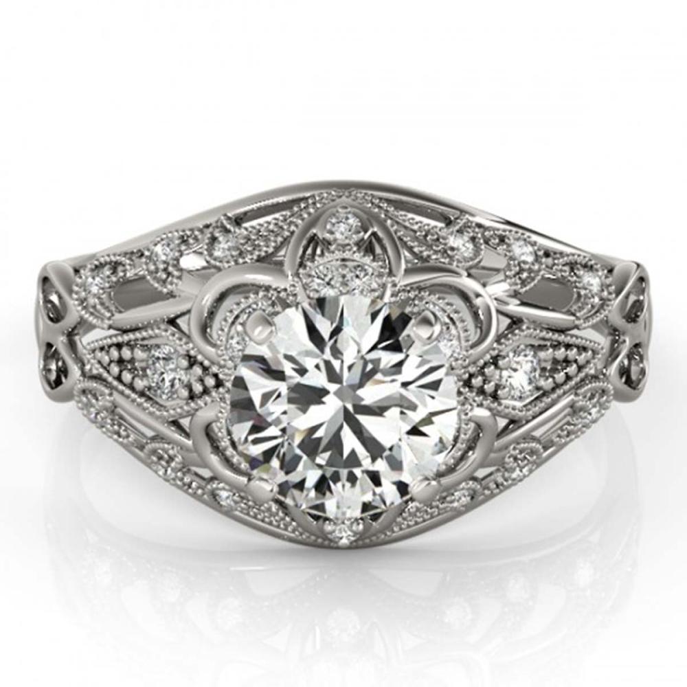 1.12 ctw VS/SI Diamond Ring 18K White Gold - REF-164K6W - SKU:27336