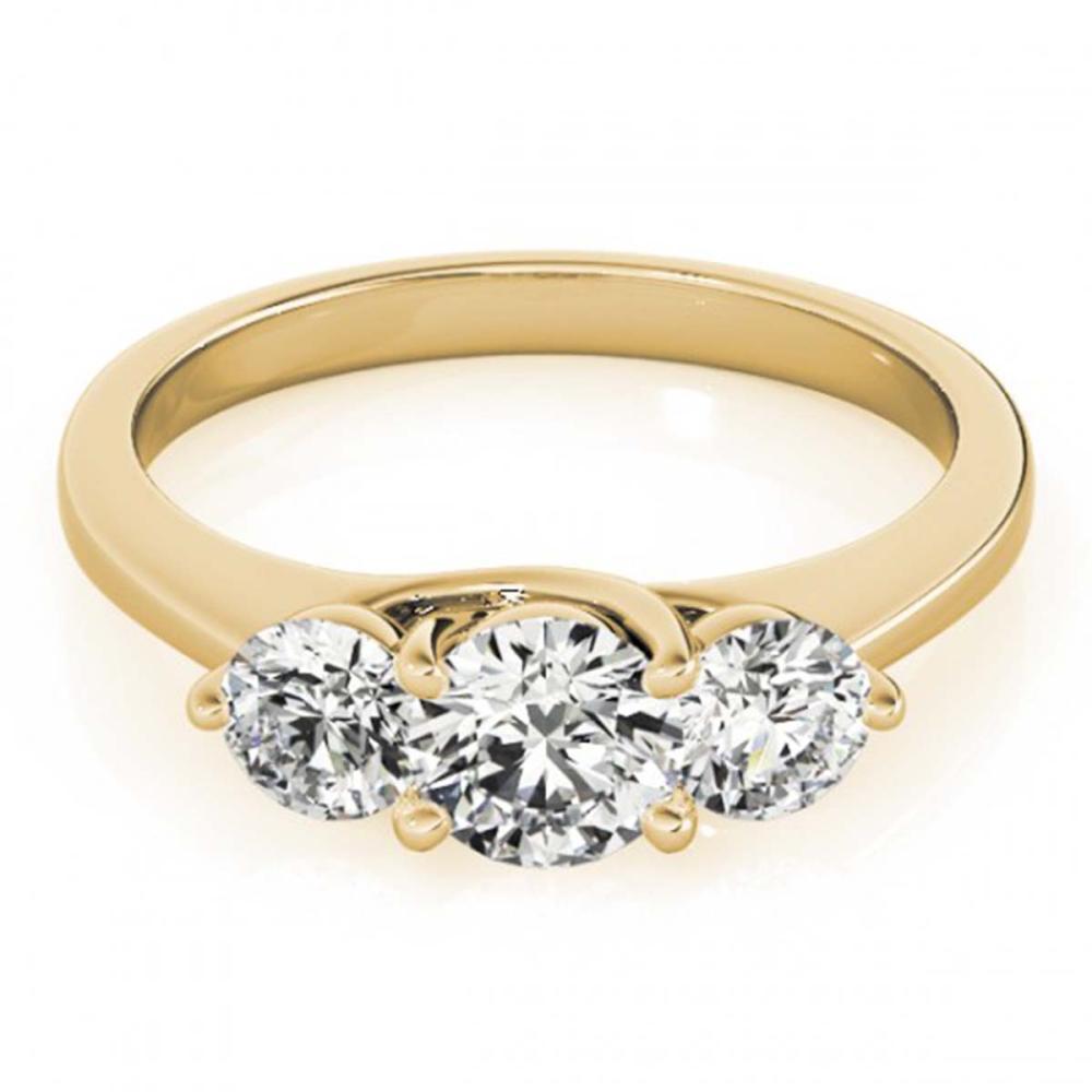 0.50 ctw VS/SI Diamond 3 Stone Ring 18K Yellow Gold - REF-53A2V - SKU:28010