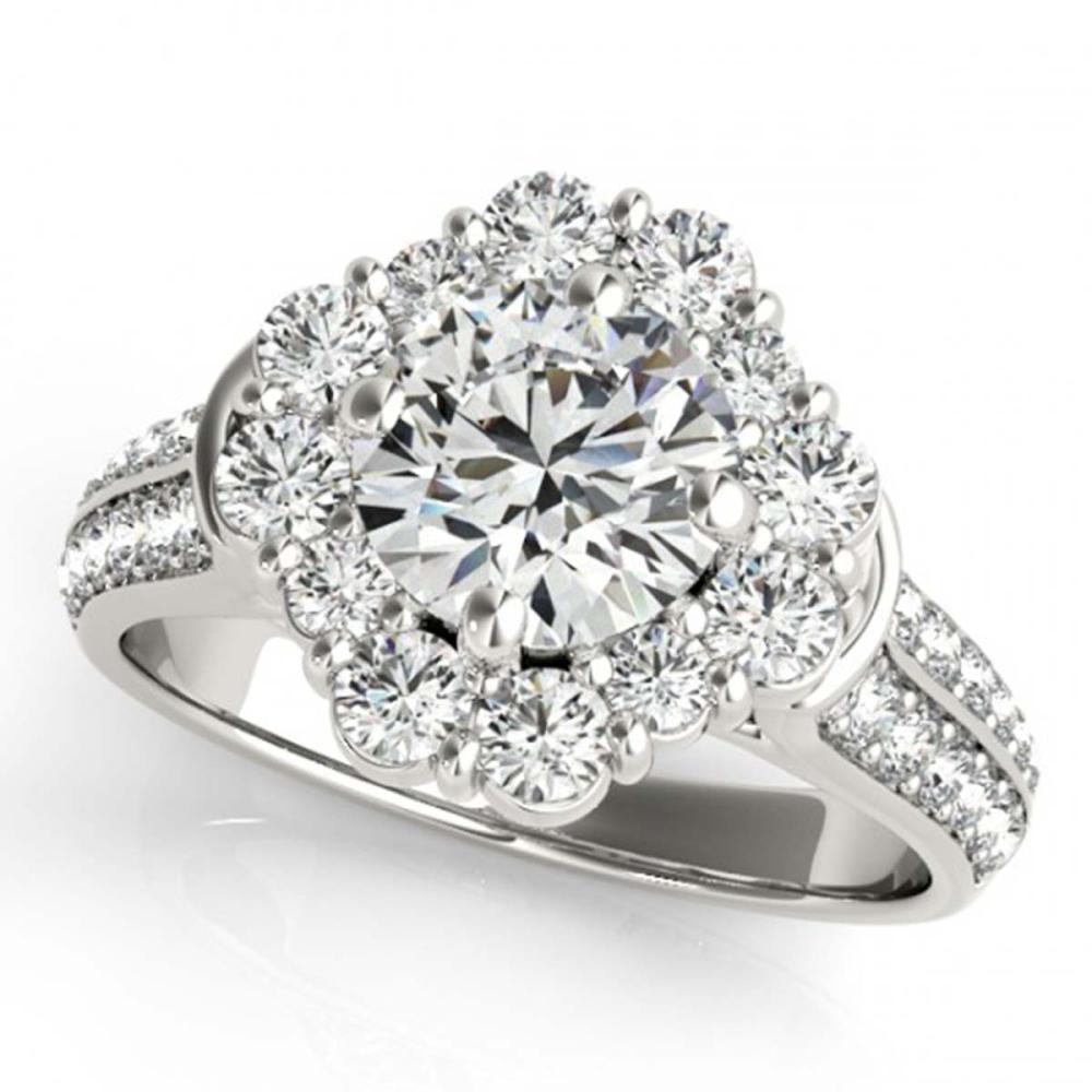 2 ctw VS/SI Diamond Halo Ring 18K White Gold - REF-202F5N - SKU:26706