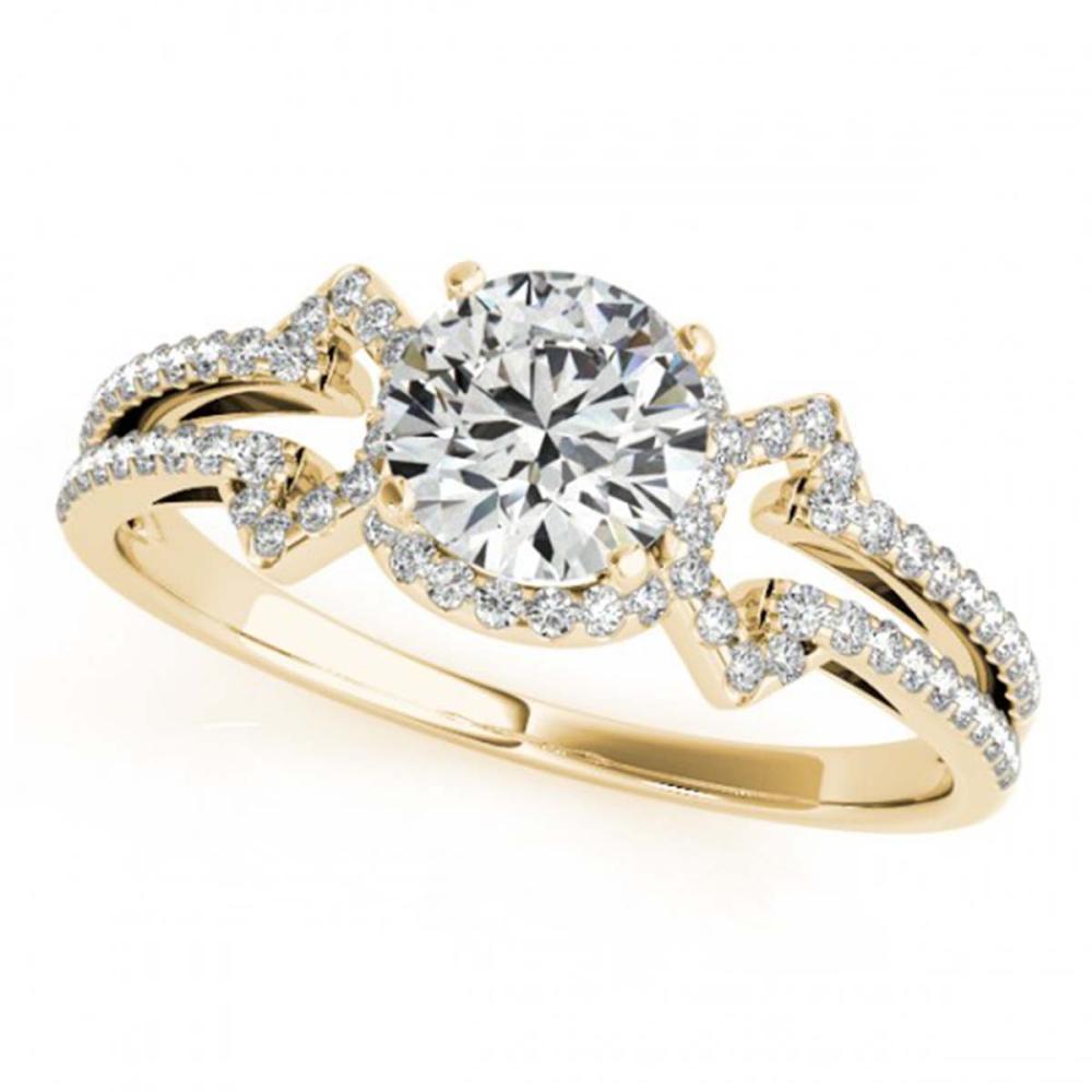 0.90 ctw VS/SI Diamond Ring 18K Yellow Gold - REF-114H5M - SKU:27968