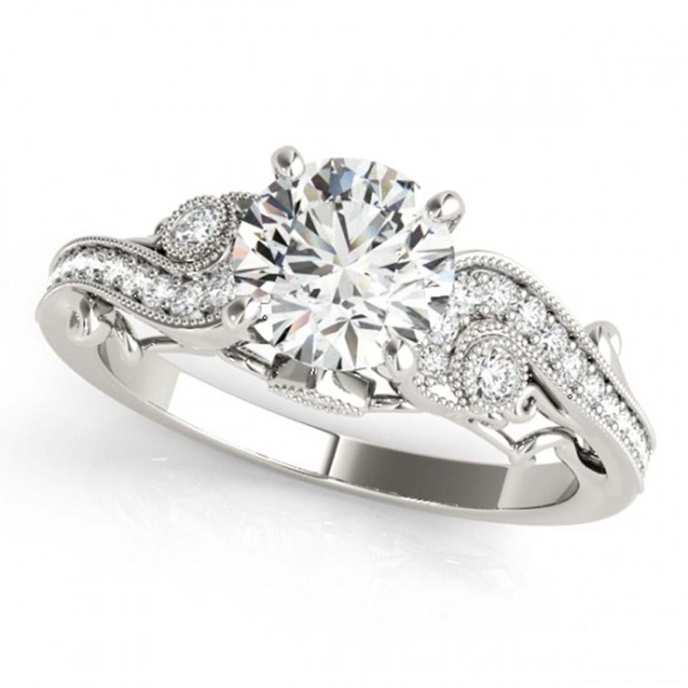 1 ctw VS/SI Diamond Ring 18K White Gold - REF-143H5M - SKU:27408