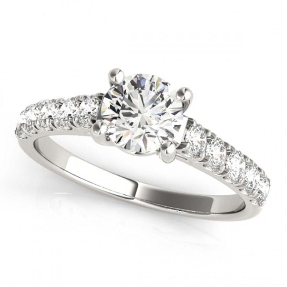 1.05 ctw VS/SI Diamond Ring 18K White Gold - REF-147A2V - SKU:28128