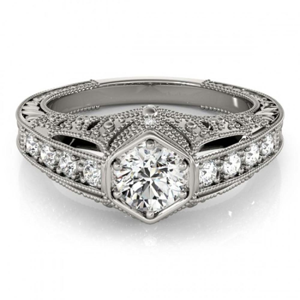 0.65 ctw VS/SI Diamond Ring 18K White Gold - REF-103R2K - SKU:27300