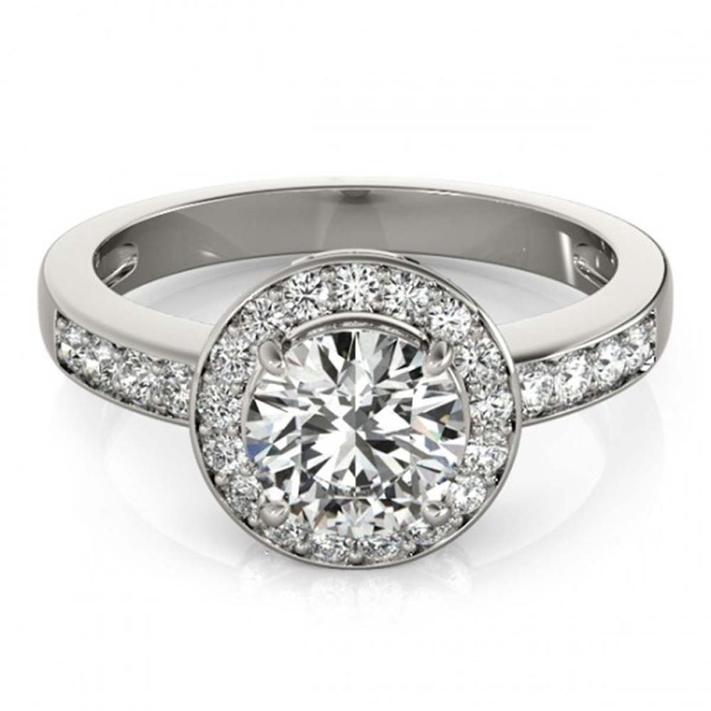 1.20 ctw VS/SI Diamond Halo Ring 18K White Gold - REF-160H9M - SKU:26967
